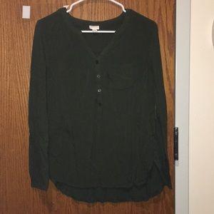 Olive Green Flow Shirt
